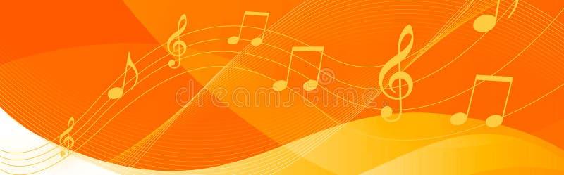 音乐注意标头 向量例证