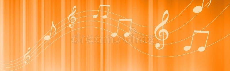 音乐注意标头 皇族释放例证