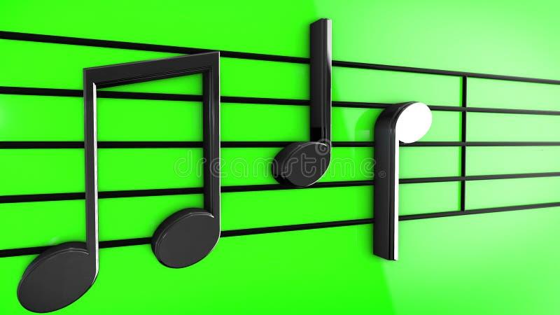音乐注意梯级 皇族释放例证
