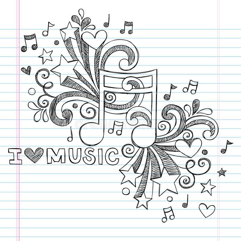 音乐注意概略乱画传染媒介例证 向量例证