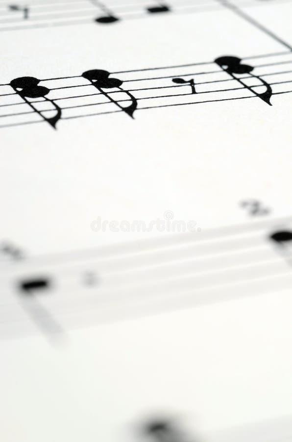 音乐注意比分背景 免版税图库摄影