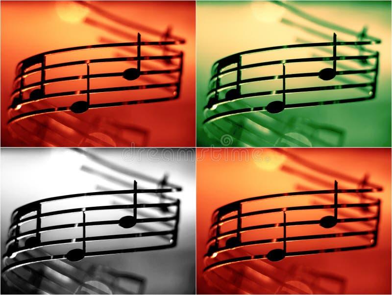 音乐注意浅dof,增加的颜色作用 免版税图库摄影