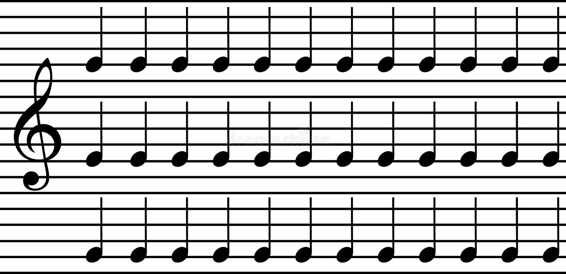 音乐注意简单 向量例证