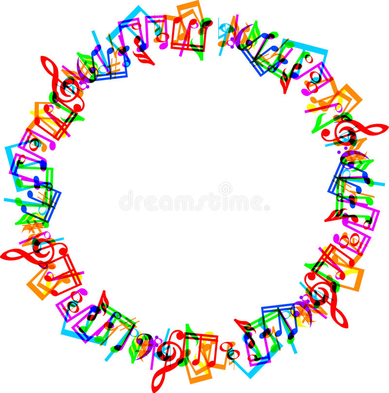 音乐注意边界框架 向量例证