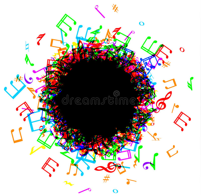 音乐注意边界框架 库存例证