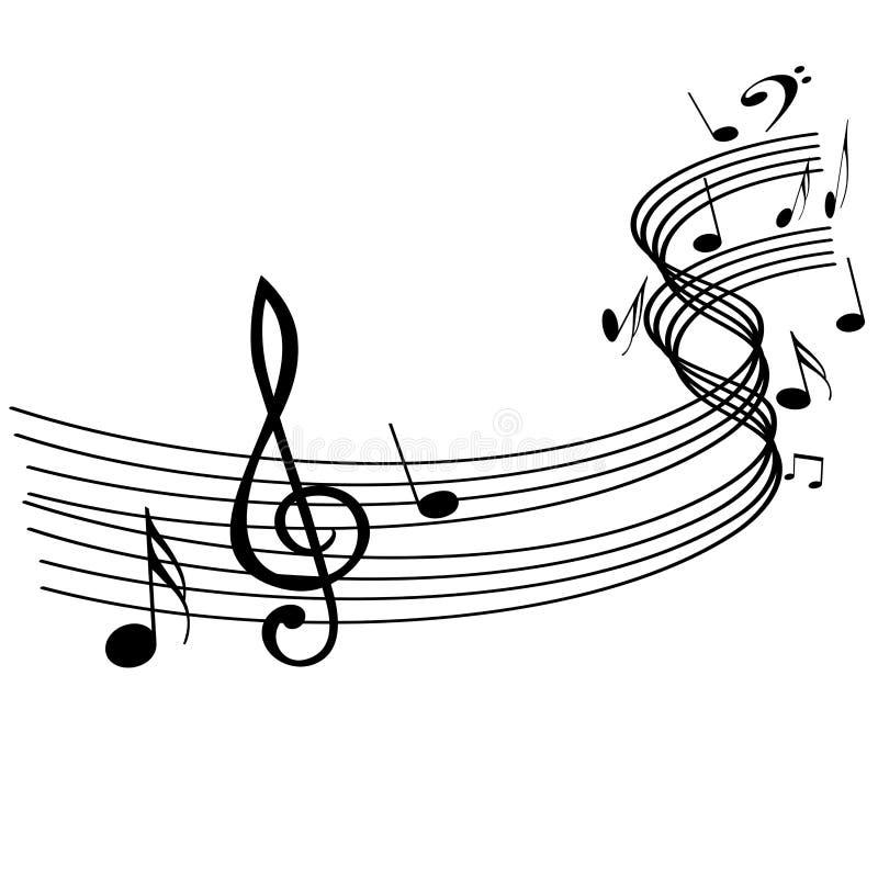 音乐注意通知 库存图片