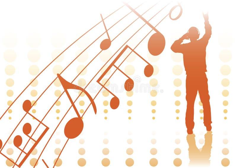 音乐流行音乐 库存例证