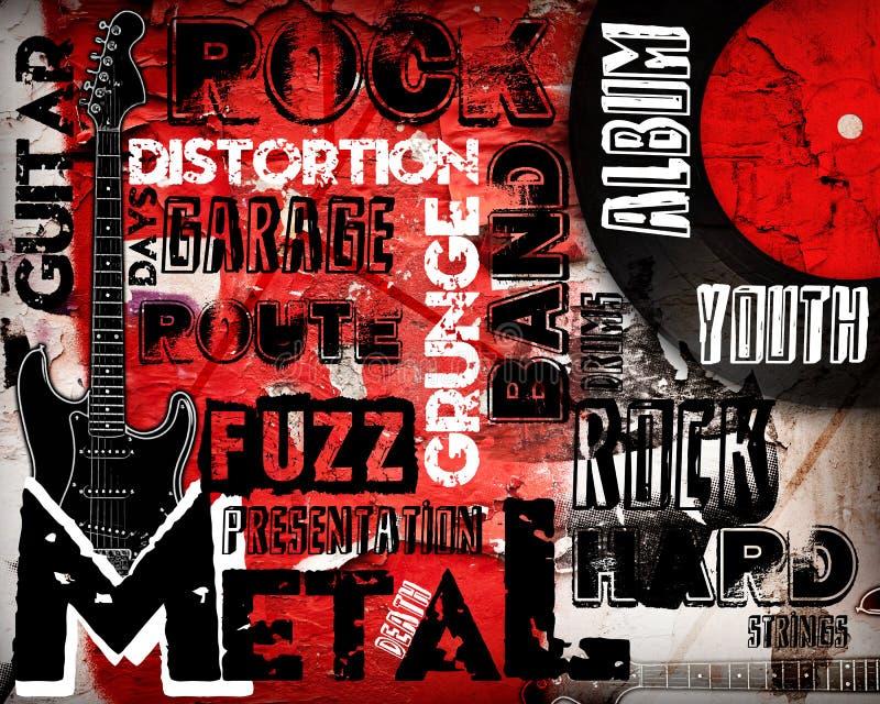 音乐海报岩石 向量例证