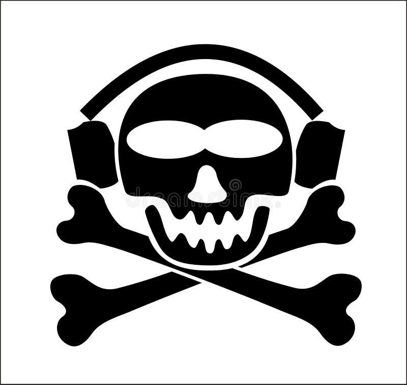 音乐海盗警告 免版税库存图片