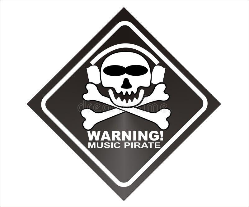 音乐海盗警告 图库摄影