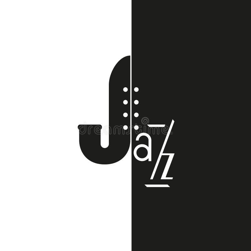 音乐爵士乐商标 库存例证