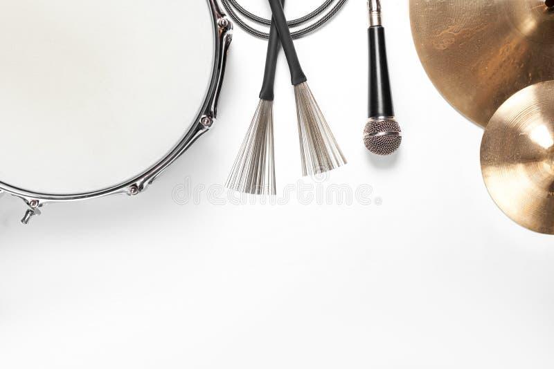音乐的仪器 平的位置 库存照片