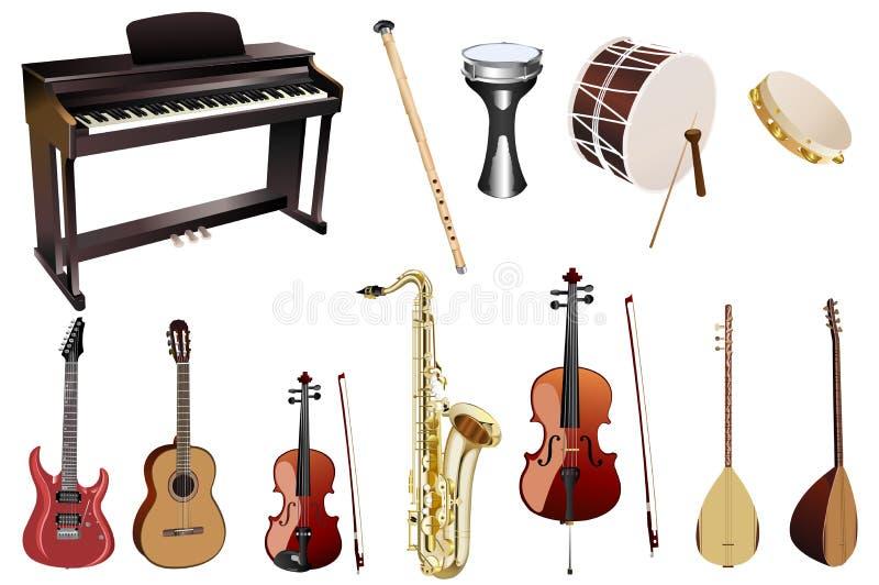 音乐的仪器 向量例证