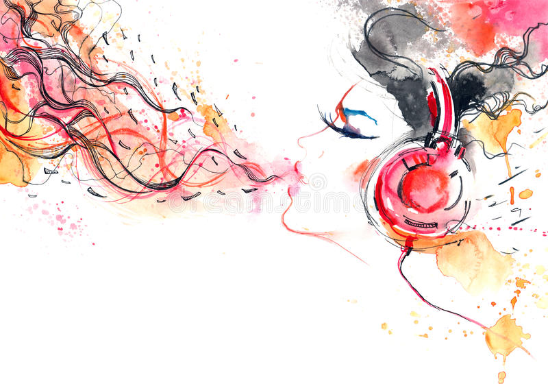 音乐的声音 向量例证