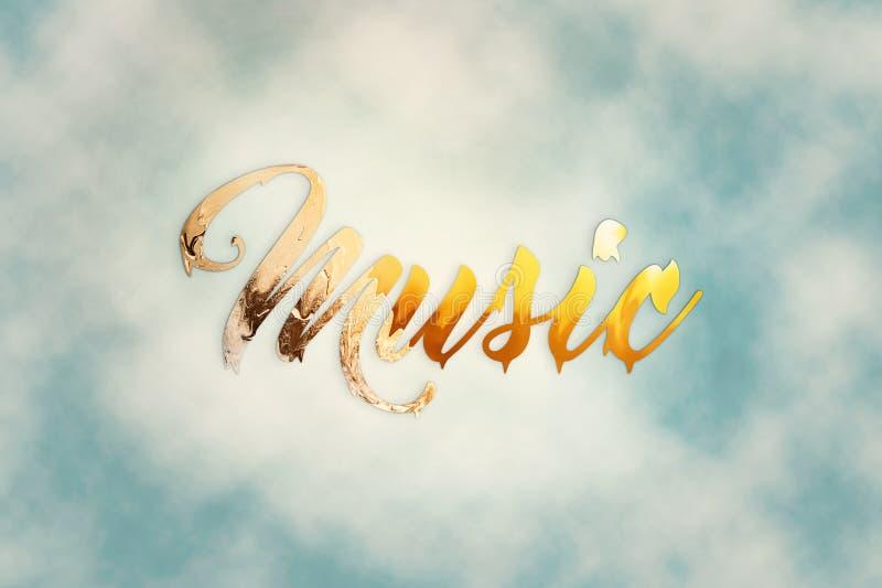 音乐的词在背景的 免版税库存图片