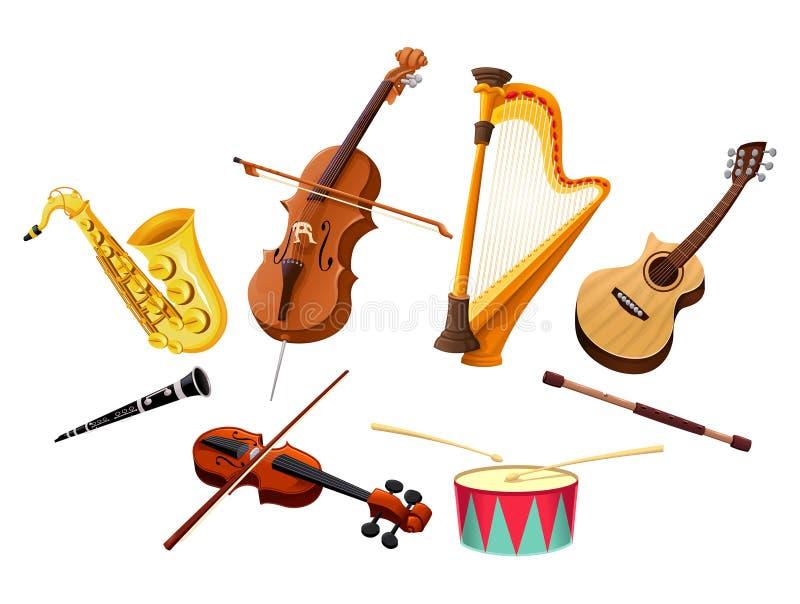音乐的仪器 皇族释放例证