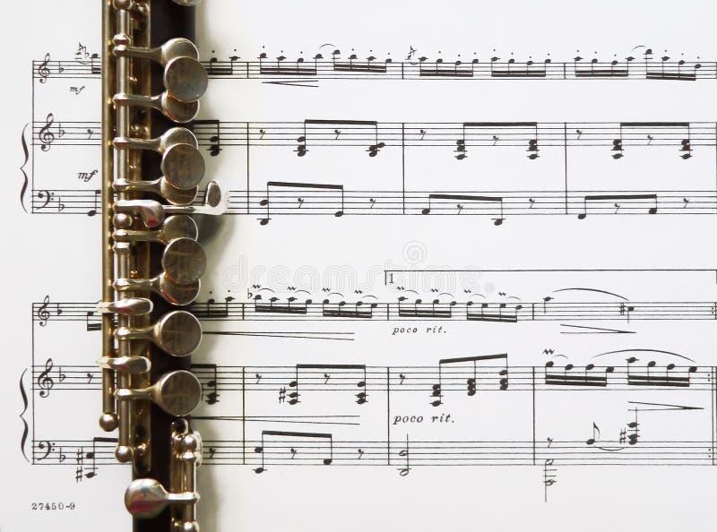 音乐短笛页 库存图片
