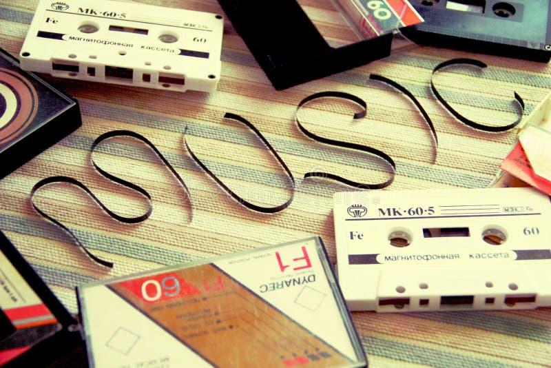 音乐磁带减速火箭的守旧派 免版税库存照片