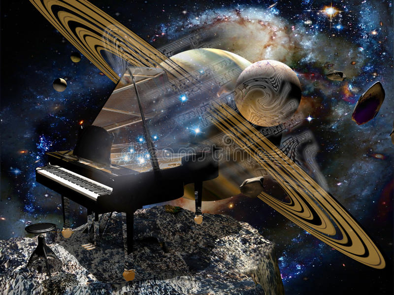 音乐空间 库存例证