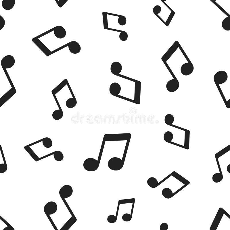 音乐笔记无缝的样式背景 企业概念传染媒介 向量例证