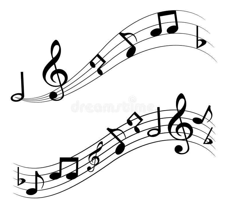 音乐笔记 库存例证