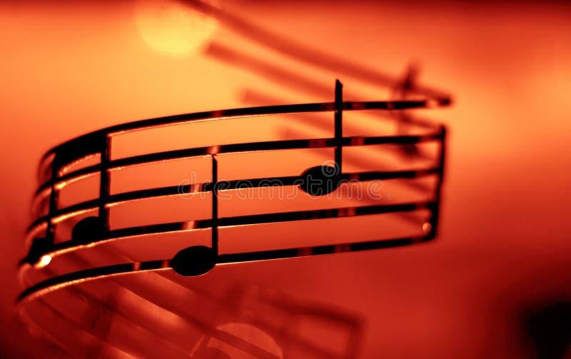 音乐笔记,浅, dof,增加的颜色作用 免版税库存图片