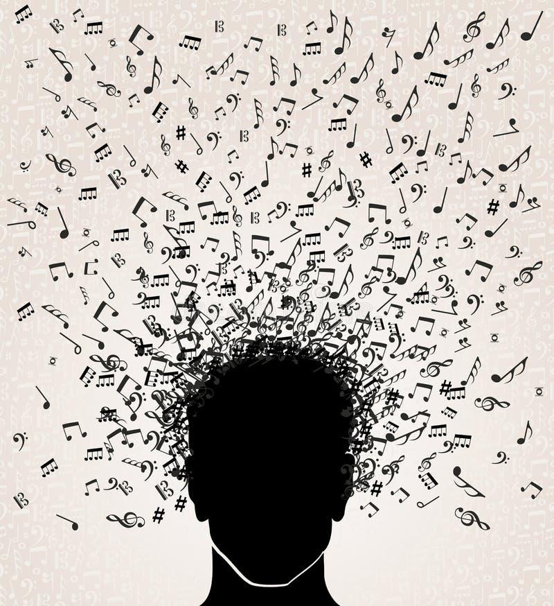 音乐笔记从顶头设计 皇族释放例证