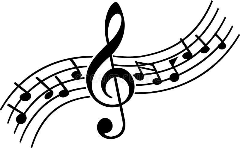 音乐笔记 皇族释放例证