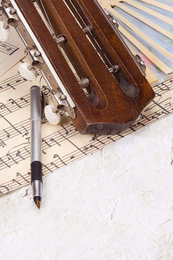 音乐笔页 库存图片