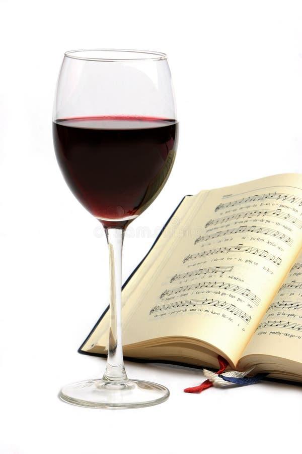 音乐红葡萄酒 库存照片