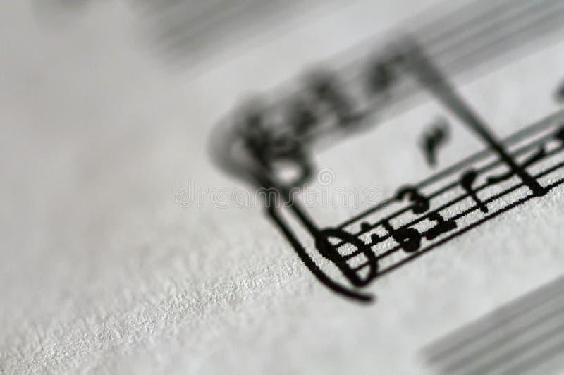 音乐纸张的特写镜头 库存照片