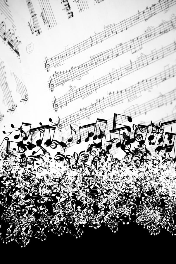 音乐纸张背景 免版税库存图片