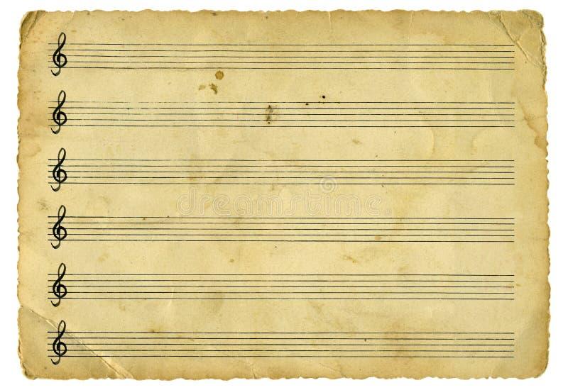 音乐纸张葡萄酒 免版税图库摄影