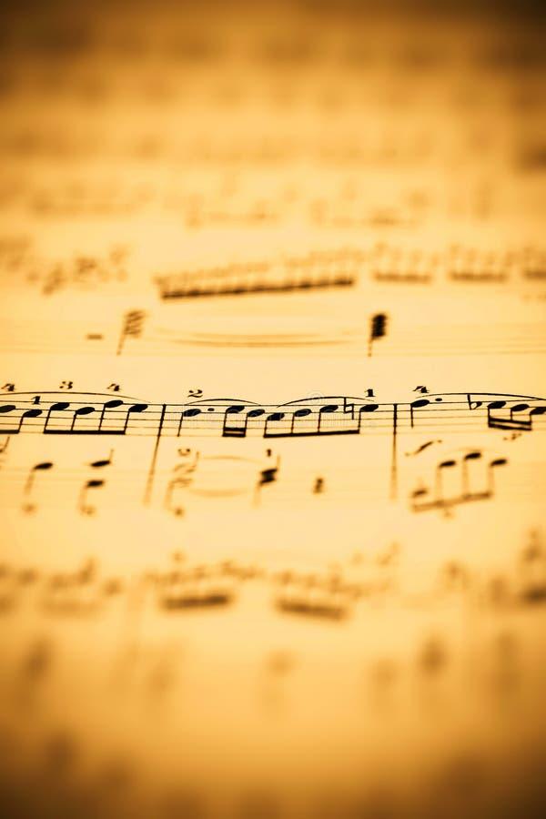 音乐纸张 免版税库存图片
