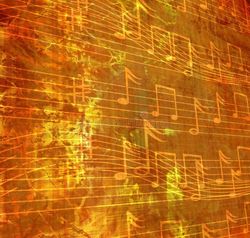 音乐纸张 库存例证