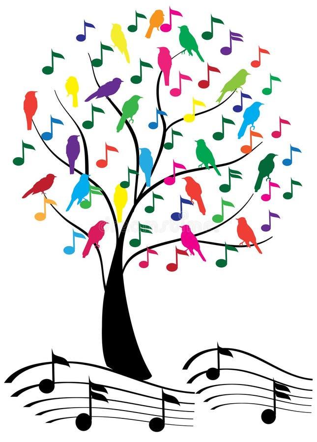 音乐结构树 库存例证