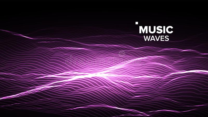 音乐背景传染媒介 信号栅格 分数维敲打 3d例证 皇族释放例证