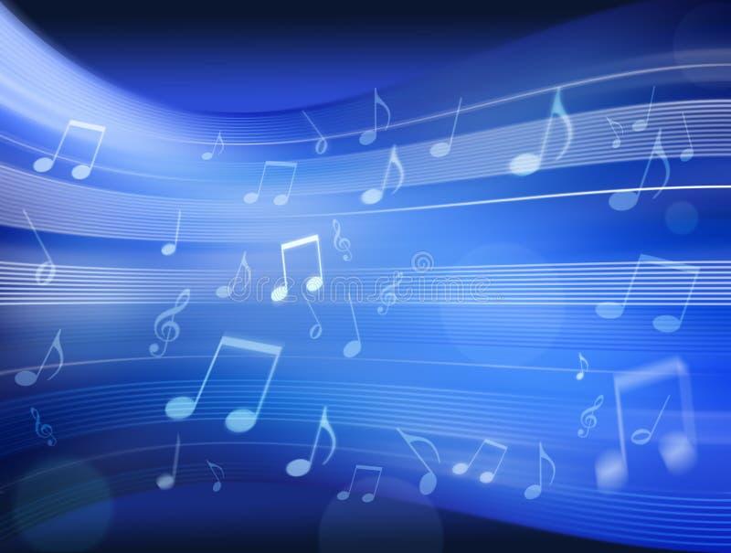 音乐背景蓝色 免版税库存照片