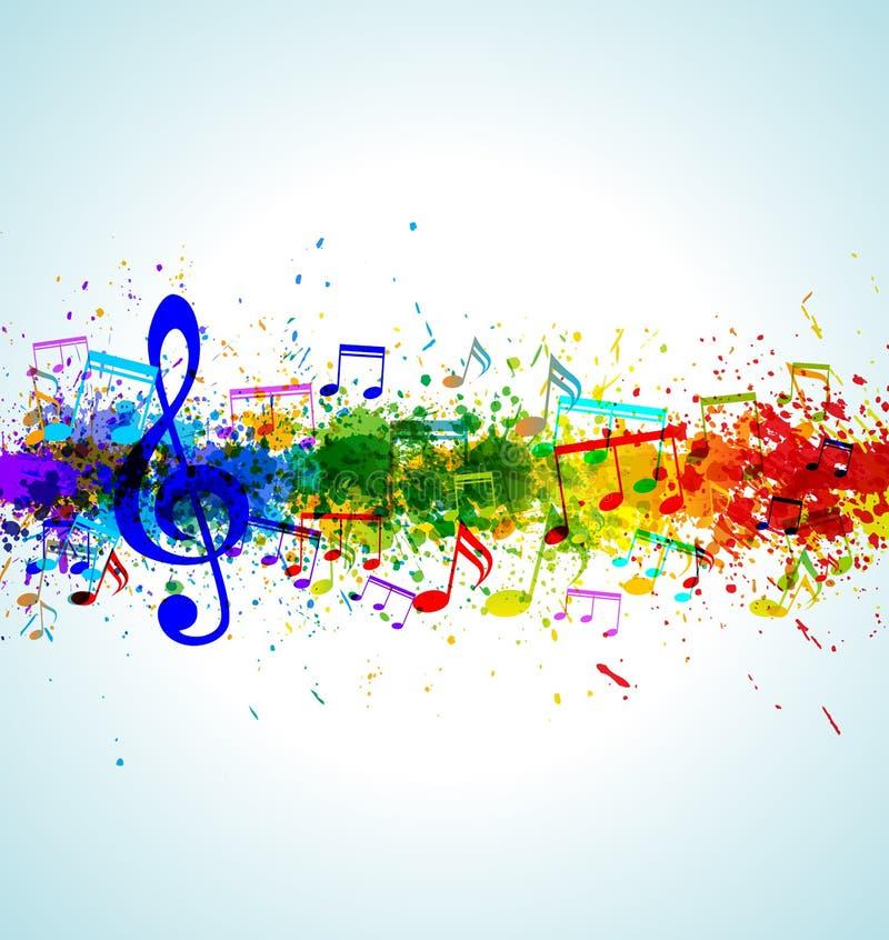 音乐背景 向量例证