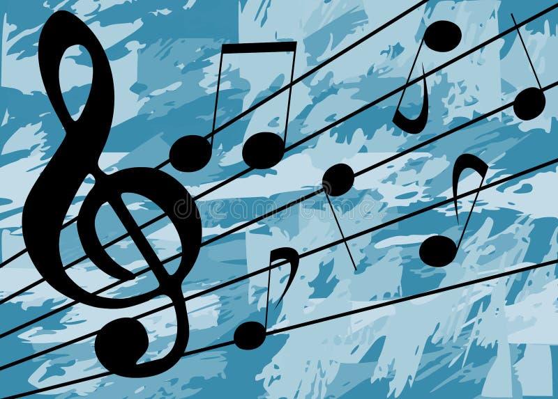 音乐背景 库存例证