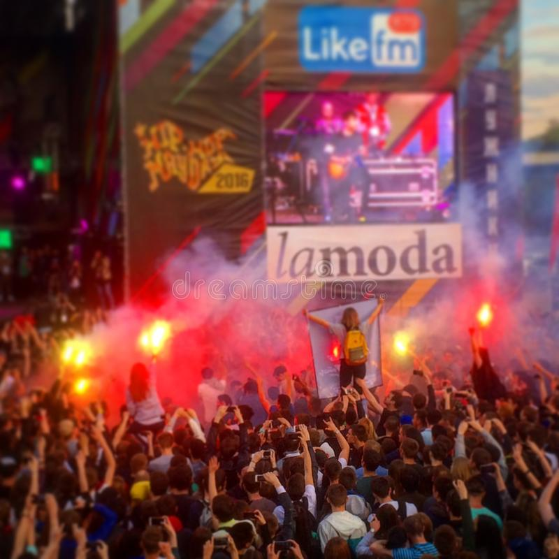 音乐节在莫斯科 库存照片