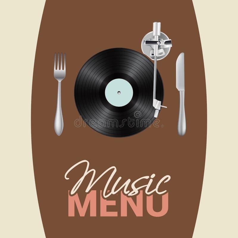 音乐菜单 皇族释放例证