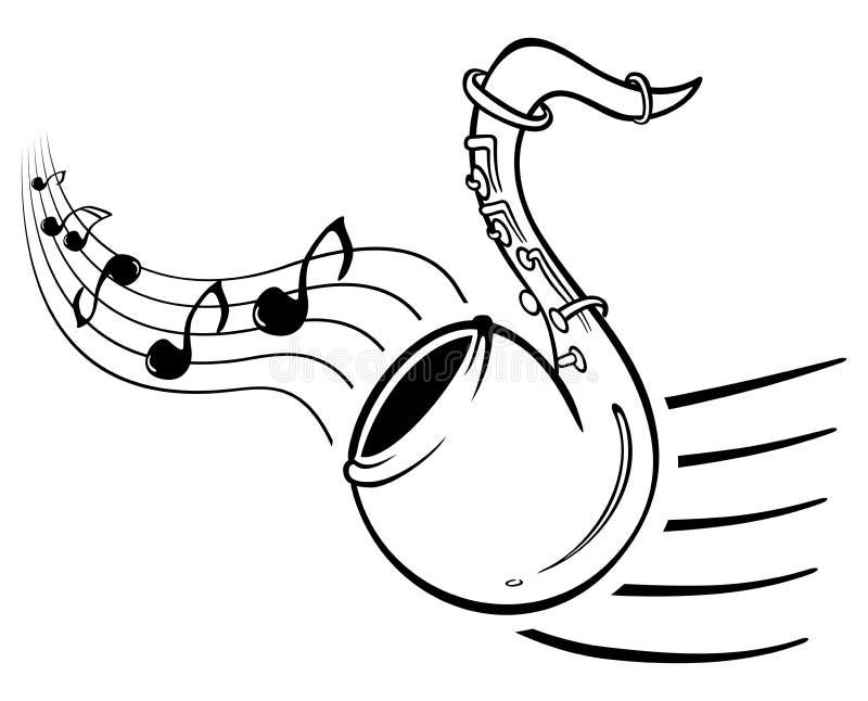 音乐萨克斯管 库存例证