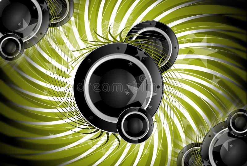 音乐螺旋 向量例证