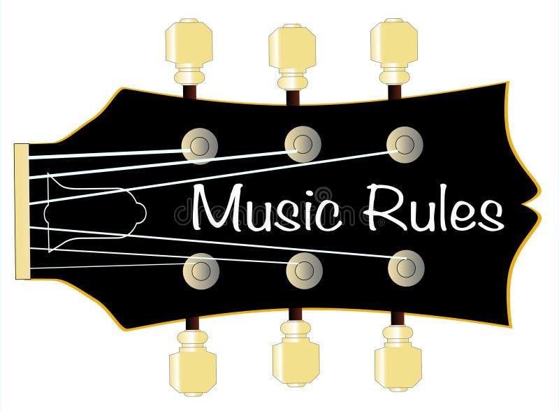 音乐规则吉他床头柜 库存例证