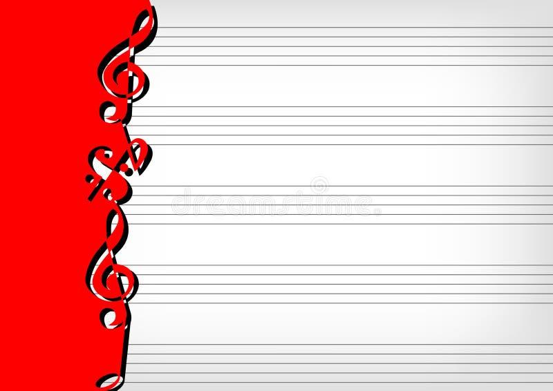 音乐记数法页 向量例证