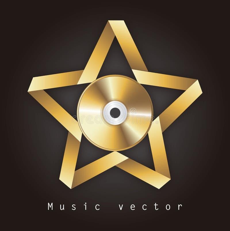 音乐设计 库存例证