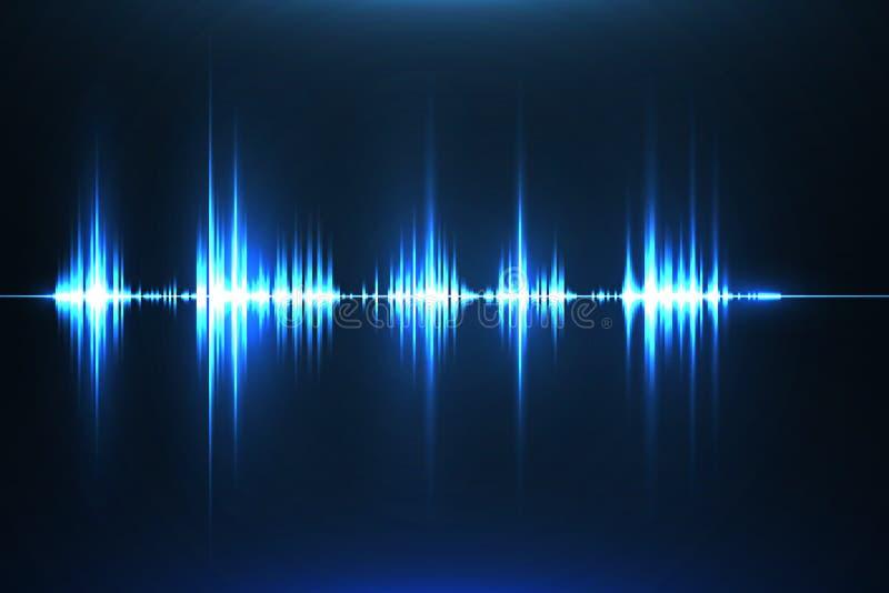 音乐调平器 声波 收音机 也corel凹道例证向量 皇族释放例证