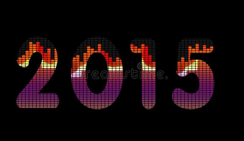 2015年音乐调平 向量例证
