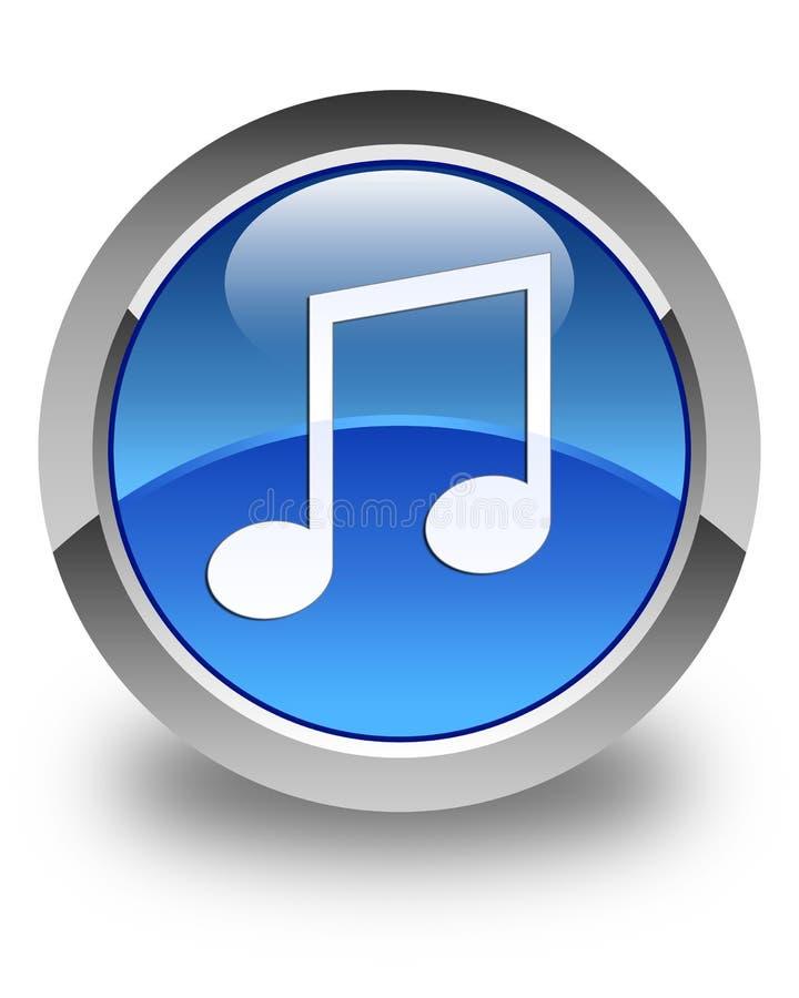音乐象光滑的蓝色圆的按钮 皇族释放例证